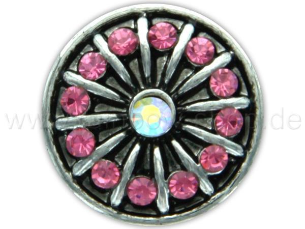 A-ch256 Chunk Button Design: Sonne Farbe: rosa Steine