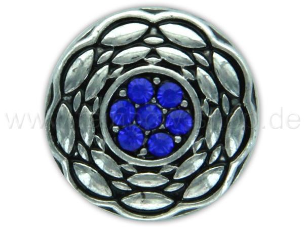 A-ch356 Chunk Button Design: Blume Farbe: blau