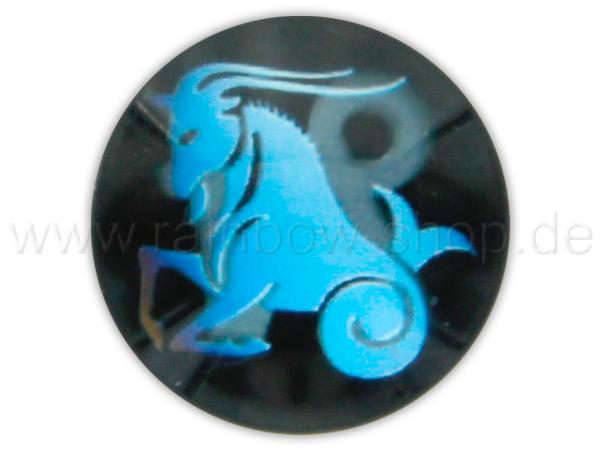 A-ch371 Chunk Button Design: Sternzeichen Steinbock Farbe: schwarz türkis