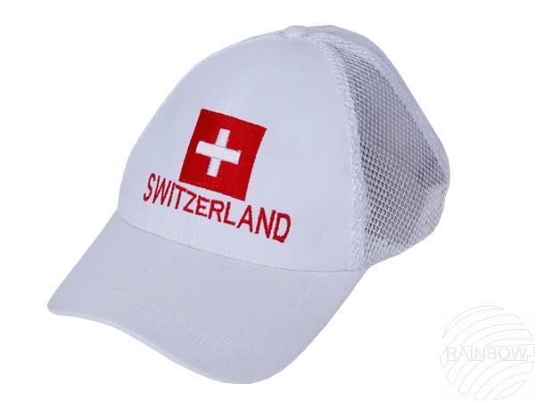 CAP-02h Baseballcap Basecap Cap Kappe weiß Switzerland Flagge