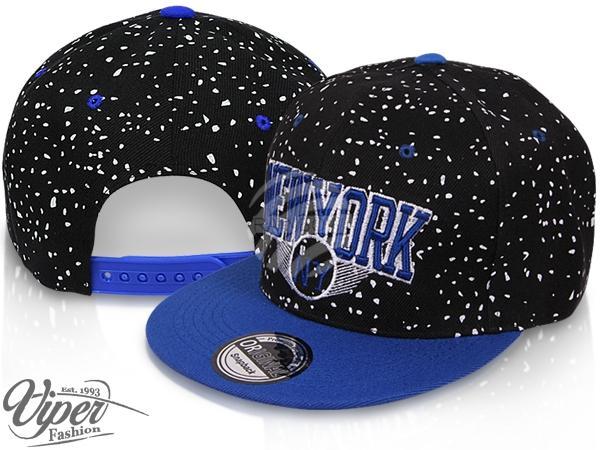 "CAP-102 Snapback Flatbrim Cap ""New York"" Farbe: schwarz / blau"