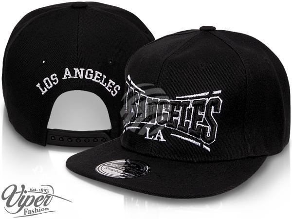 "CAP-15LA Snapback Flatbrim Cap ""Los Angeles"" Farbe: schwarz"