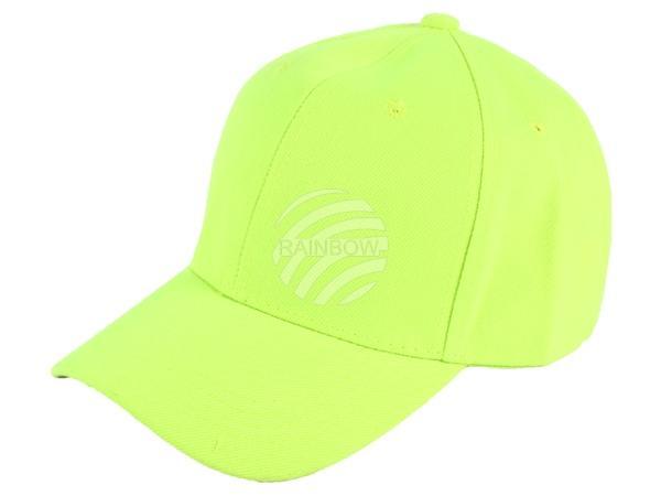CAP-72 Baseball Cap, Basecap Motiv: unifarben Farbe: neon gelb