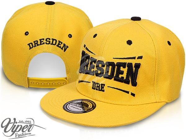 "CAP-DRE01 Snapback Flatbrim Cap ""Dresden"" Farbe: gelb"