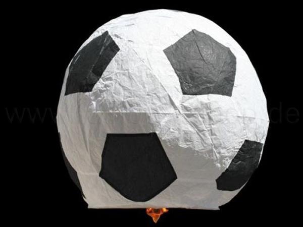 HL-f03 Himmelslaterne schwarz weiss Motiv: Fussball