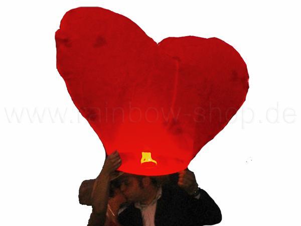 HL-h Himmelslaterne rot Motiv: Herz