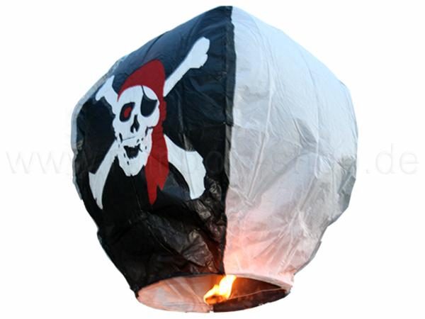 HL-p Himmelslaterne schwarz weiss Motiv: Piraten