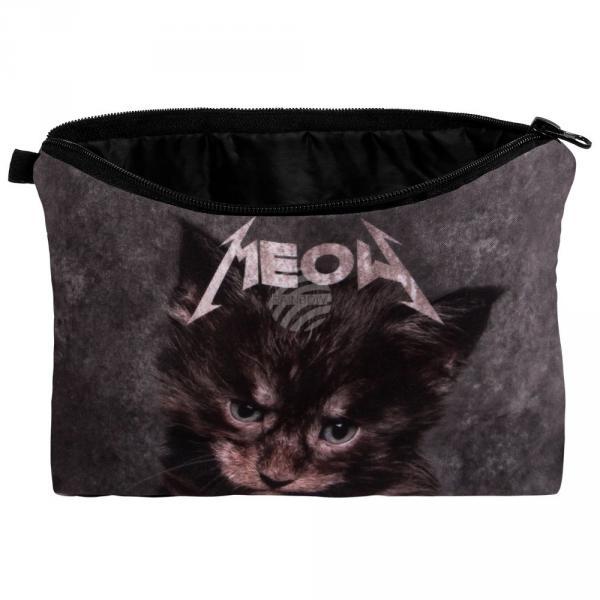 """KT-012 Kosmetik Tasche mit Motiv """"Kätzchen Meow"""""""