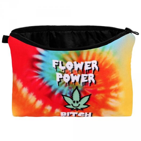 """KT-021 Kosmetik Tasche mit Motiv """"Flower Power Bitch"""""""