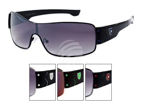LOOX-107 LOOX Sonnenbrille Bahamas X Emblem auf Rahmen in verschiedenen Farben
