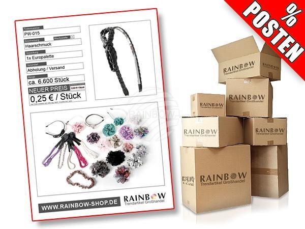 PW-015 Posten mit ca. 6600 Stück an modischem Haarschmuck in verschiedenen Designs