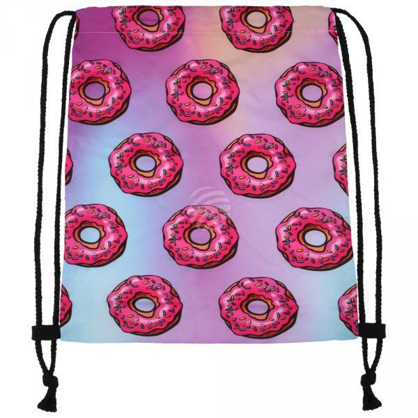 RU-x206a Gymbag Gymsac Design: Donuts Farbe: rosa hellblau rosa