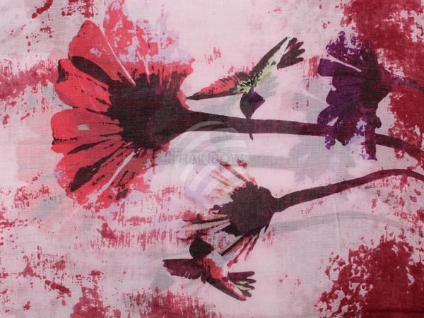 SCH-1194d Damen Schal Blumen rosa