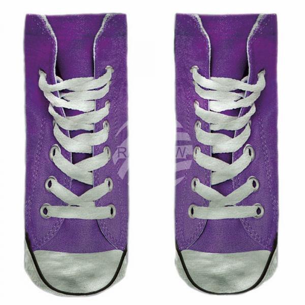 Niedriger Verkaufspreis erstaunliche Qualität ankommen SO-L110 Motiv Socken lila weiß Schuhe lässig