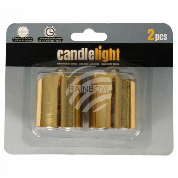 TL-15 LED Teelichter Kerzen rund gold unisize