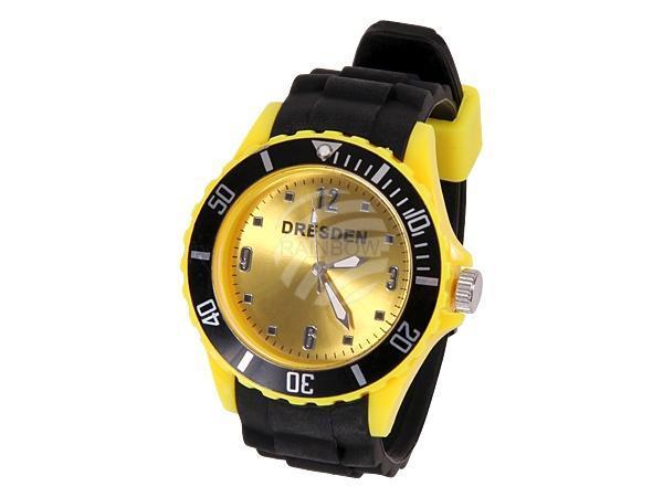 UR-257 Uhren Armbanduhren Städteuhren Fanartikel Dresden schwarz Ø ca. 4,4 cm