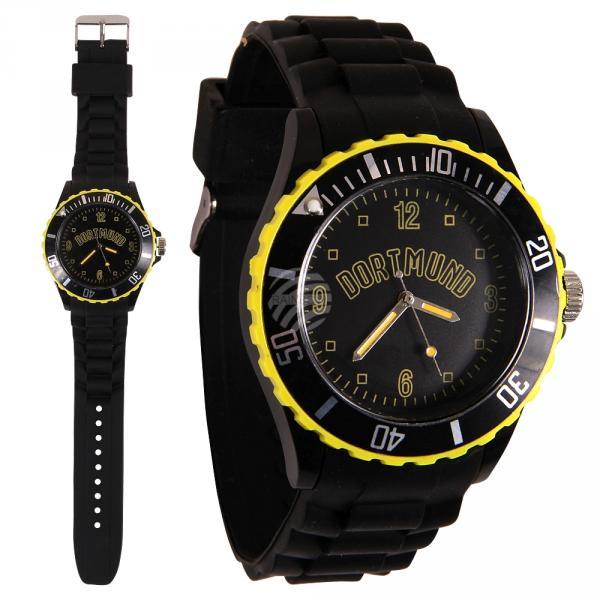UR-260 Uhren Armbanduhren Städteuhren Fanartikel Dortmund schwarz Ø ca. 4,4 cm