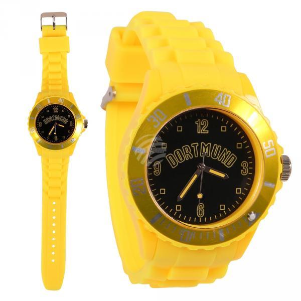 UR-261 Uhren Armbanduhren Städteuhren Fanartikel Dortmund gelb Ø ca. 4,4 cm
