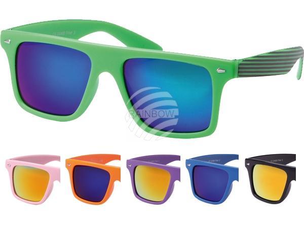 V-1100 VIPER Damen und Herren Sonnenbrille Form: Vintage Retro Farbe: farbig sortiert, Bügel teils gestreift