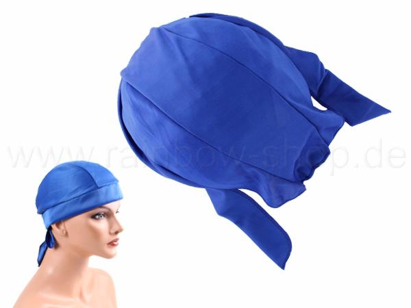 ZA-121 Zandana, Biker Kopftuch Design: unifarben Farbe: blau