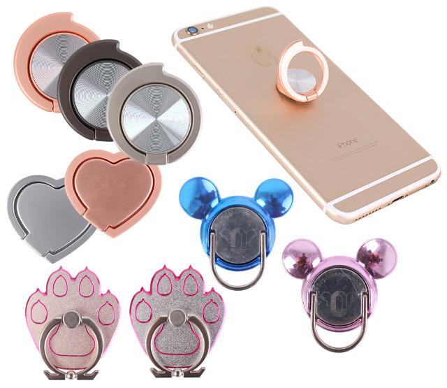 Handy Ringe Halterung Ring Zubehör Accessoires 360° drehbar Smartphone Fingerhalter Halter Ringhalter Ständer Ring Herz Maus Tatze - 0,89 Eu
