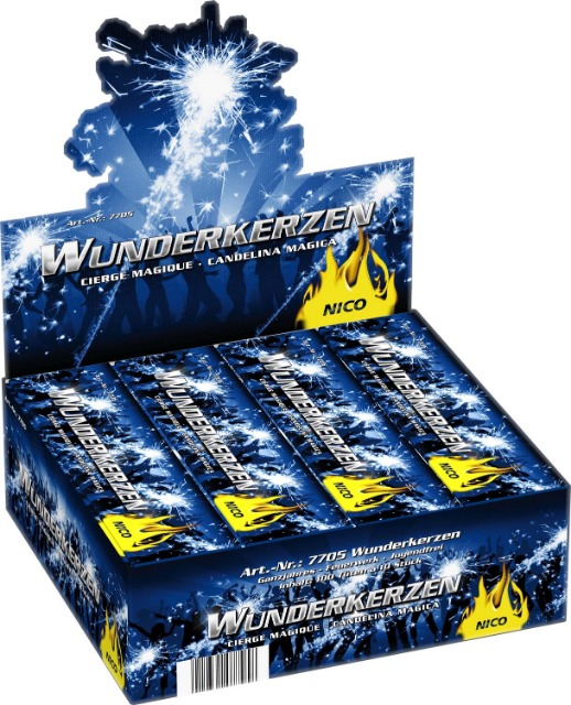 Wunderkerzen Ganzjahres Feuerwerk 18 cm / 1000 er XXL Packung