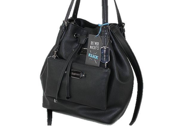 Damen Handtasche Schultertasche Umhängetasche Tasche Restposten Schwarz
