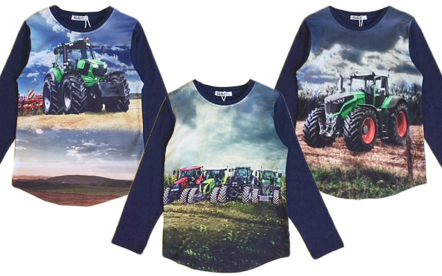 Kinder Jungen Sweatshirt Traktor Bauer Farmer 2-12 Jahre Shirt Shirts Pullover Oberteil Langarm Kindershirt - 4,90 Euro
