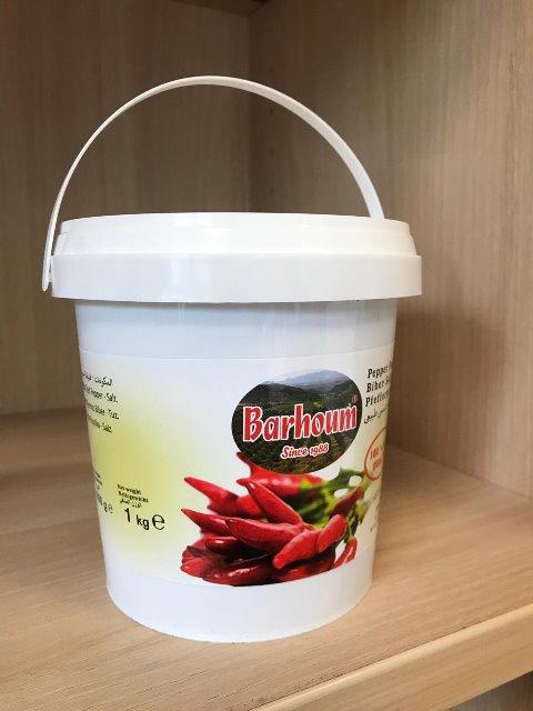 Barhoum Food Paprikapaste Paprikamark SCHARF 1KG sonnengetrocknet 4005156254198