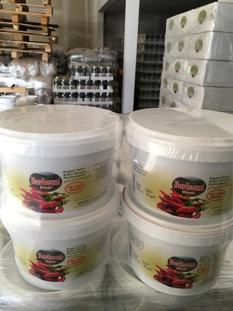 Barhoum Food Paprikapaste Paprikamark SCHARF 3KG sonnengetrocknet 4005156254174