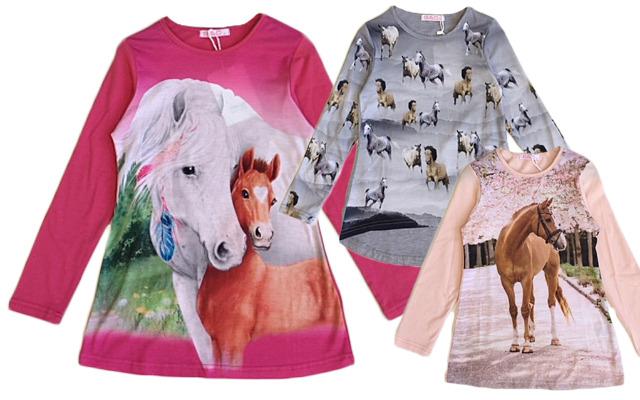 Kinder Mädchen Trend Sweatshirt Pferd Shirt Shirts Pullover Oberteil Langarm Kindershirt - 4,90 Euro