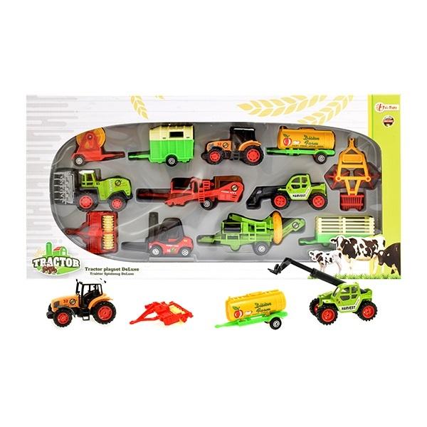 27-51865, Farmer Traktor Spielset Deluxe METALL