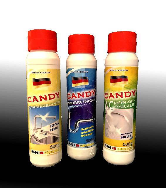 Candy Rohrreiniger / Scheuerpulver / WC Reiniger Pulver 500 gr.