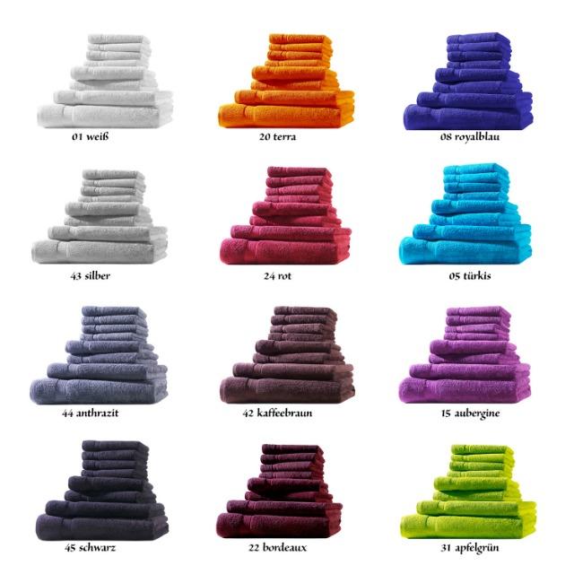 Handtücher Gr. 50x100 cm in ca. 500 g/m², 100% Baumwolle, **Premium Qualität**