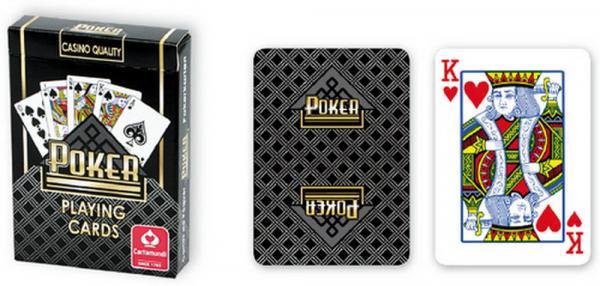 Pokerdeck schwarz