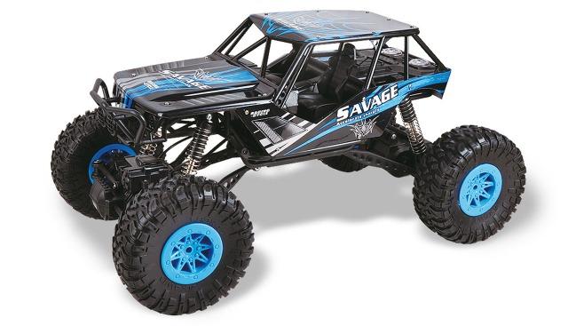 funk ferngesteuertes Auto RC Car DSC Climb Nation Crawler blau 1:10, 2,4GHz