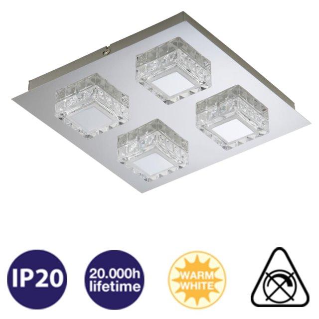 LED Deckenleuchte 4-flammig 3549-048