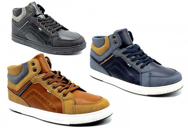 Herren Trend Sneaker Schnür Schuhe Schuh Shoes Sportschuhe Freizeit - 14,90 Euro
