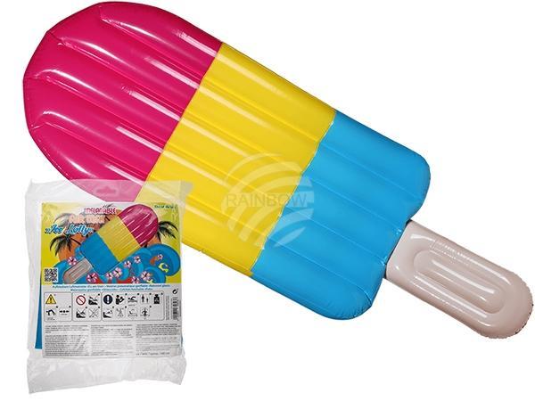 Aufblasbare Luftmatratze, Eis am Stiel, ca. 180 cm, im Polybeutel zum Aufhängen, 432/PAL