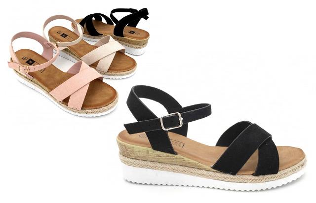 Damen Woman Sommer Trend Sandalette Riemchensandale Sandale Slipper Schuh Shoes Business Freizeit - 9,90 Euro