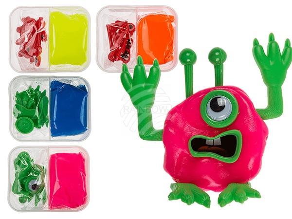 DIY Monster II, mit ca. 50 g Knete, Set in Dose, 12 Stück im Display, 2592/PAL