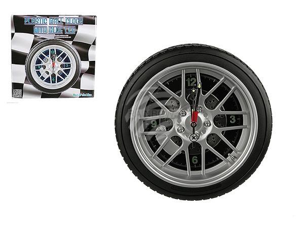 Kunststoff-Wanduhr, Reifen, mit 16 LED, D: ca. 35 cm, für 4 Mignon Batterien (AA) auch Adapterbetrieb, 96/PAL