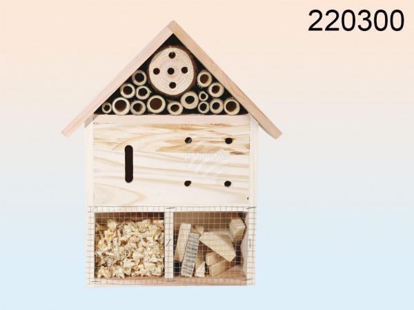 Naturfarbenes Holz-Insektenhotel, ca. 30 x 25 cm, 200/PAL