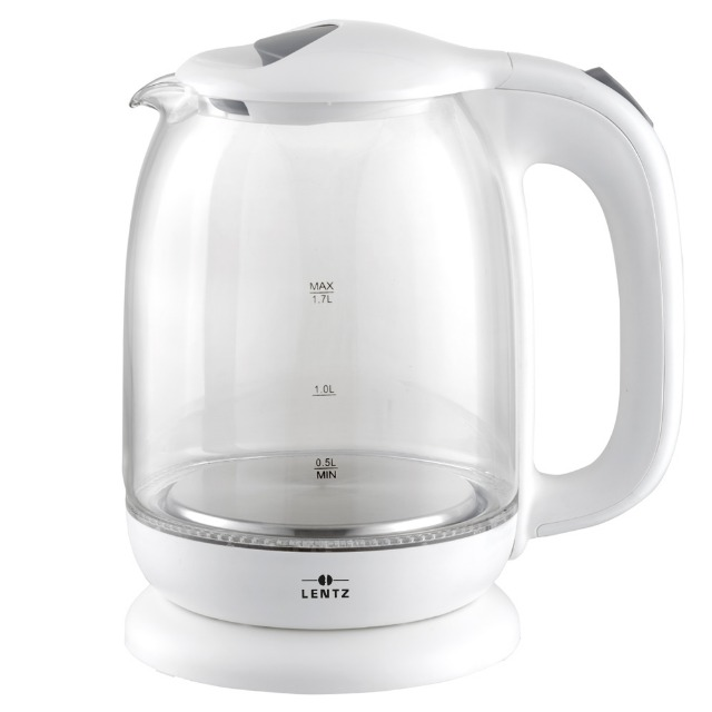 Wasserkocher Glas LED 1,7 L weiß Wasser Kocher Preisaktion