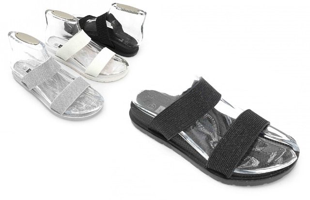 Damen Woman Sommer Trend Slipper Strandschuh Glitzer Badeschlappen Sandale Slip on Schuh Shoes Sommer Freizeit Business - 5,90 Euro
