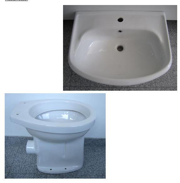 Sonderposten SPHINX Bad-Set Waschbecken 60cm + WC in Weiss