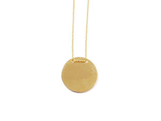 Kette Halskette mit rundem Anhänger Gravurplatte Gravur Münze Rund 2,5 cm