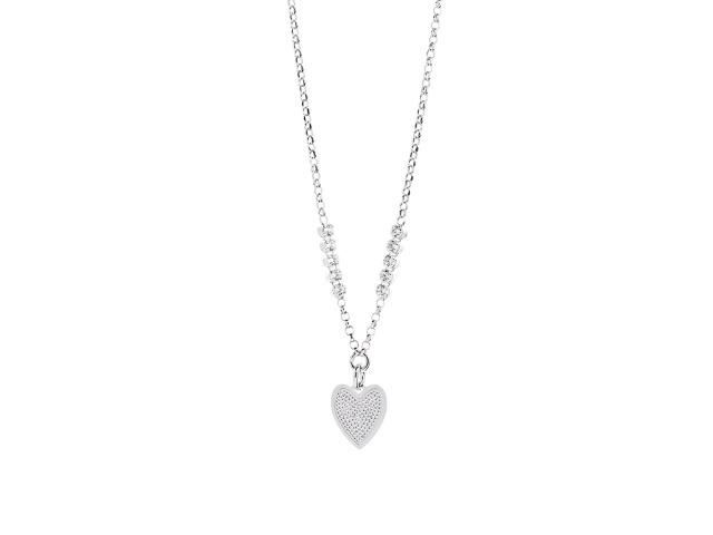 925 Sterling Silber aus Italien - Halskette Herz Liebe
