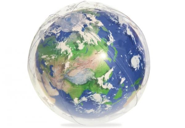 Wasserball Erde mit LED-Licht, Ø 61 cm