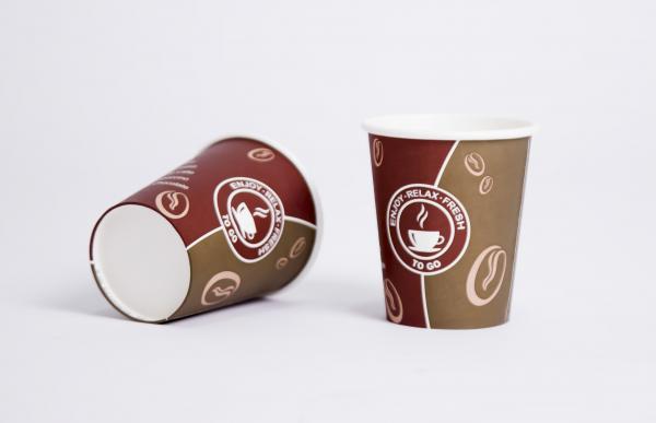 1000 Stück 0,2l Kaffeebecher to go Coffee 8oz 200ml Hartpapier Pappbecher Becher D80